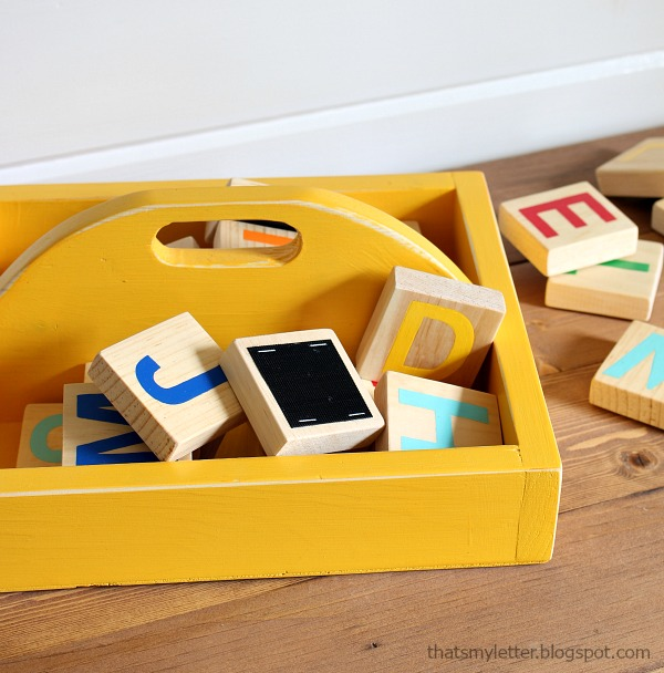 diy wood caddy storage
