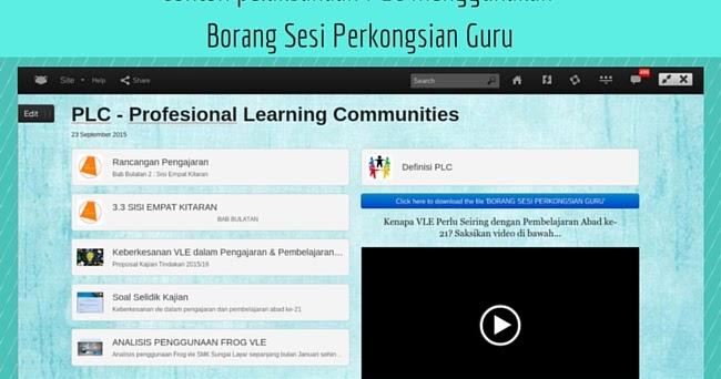 Puan Matematik Contoh Pelaksanaan Plc Menggunakan Borang Sesi