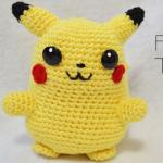Patron gratis pikachu pokemon amigurumi   Free amigurumi pattern pikachu pokemon