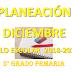 PLANEACIÓN DICIEMBRE 5° PRIMARIA CICLO ESCOLAR 2018-2019.