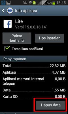 hapus data/cache