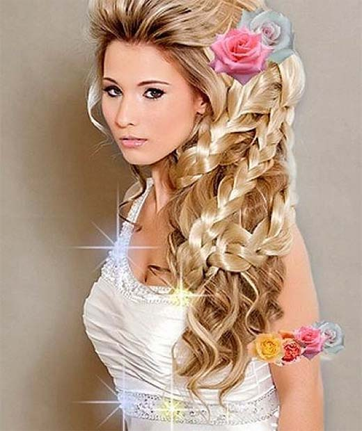Fabulous Top 10 Best Bridesmaid Hairstyles 2015 Women New Curly Long Hairstyle Inspiration Daily Dogsangcom