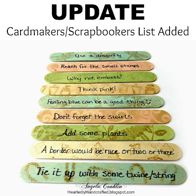 Cardmaker's and Scrapbooker's Inspiration Sticks: Never Run Out of Ideas Again Updated