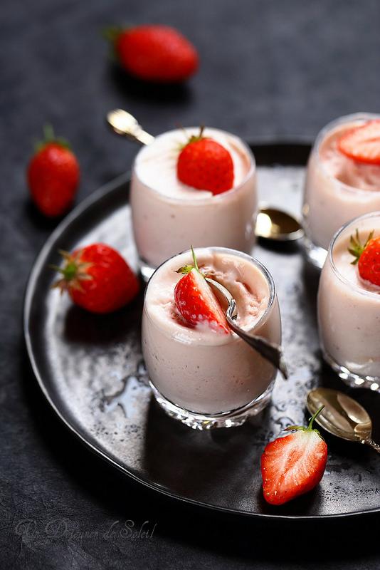 Parfait glacé aux fraises (sans sorbetière)