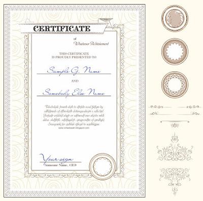 Contoh Desain Sertifikat Format CorelDRAW Cdr