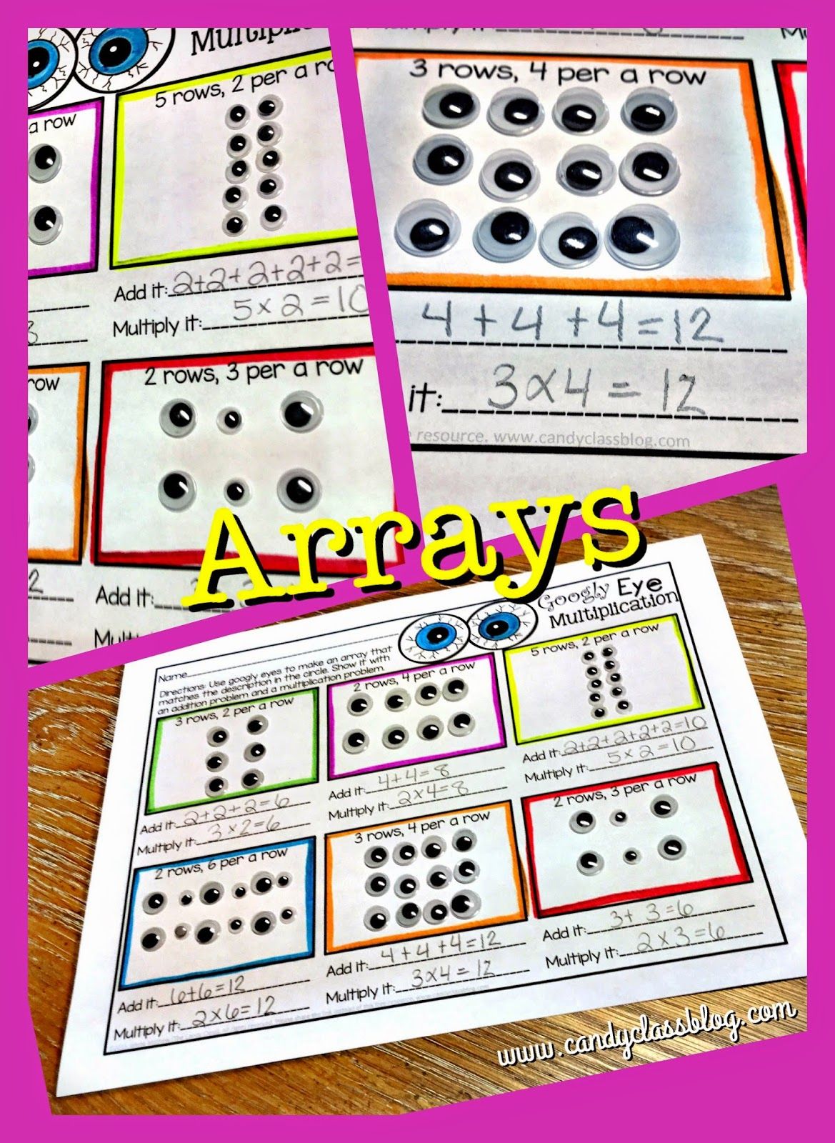 The Candy Class Getting Googly Eyed With Multiplication