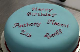 The cake, in Aston Villa colours of course