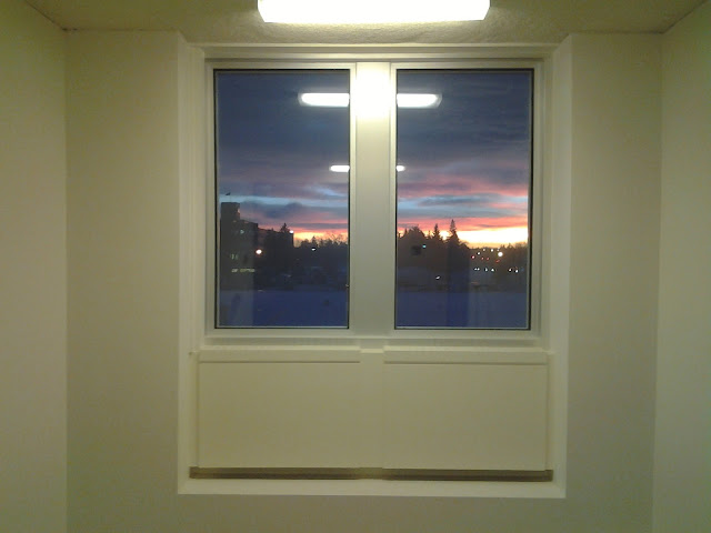 hospital window sunrise