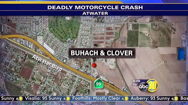 fatality atwater motorcycle bus accident crash buhach road clover avenue