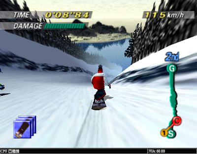 【N64】雪地滑板王(1080 TenEighty Snowboarding),好玩的滑雪運動遊戲!