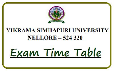 VSU UG Time Table 2021