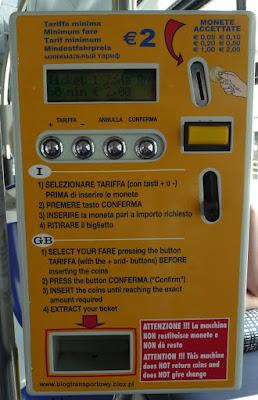 Automat biletowy, Start Romagna