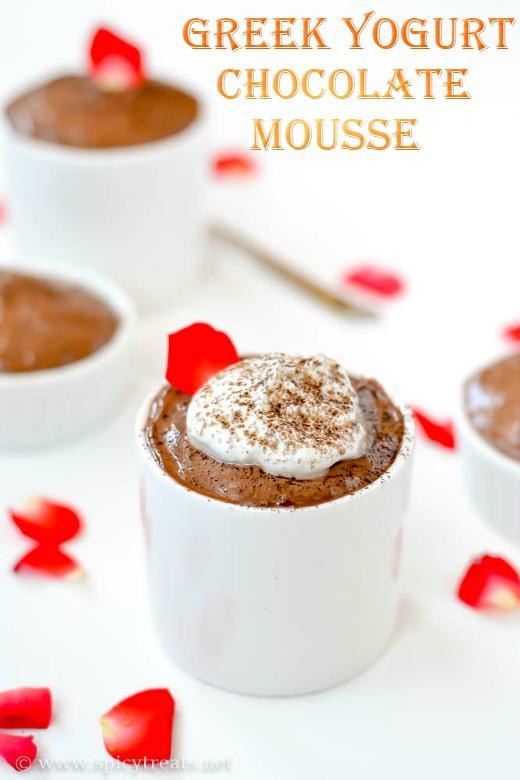 GreekYogurt Chocolate Mousse Recipe