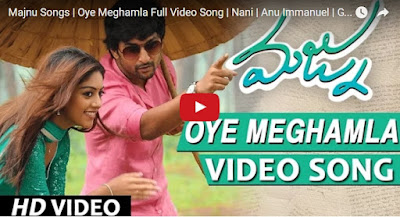 Oye Meghamla Full Video Song , Majnu Video Songs