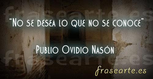 Citas famosas de Publio Ovidio Nason