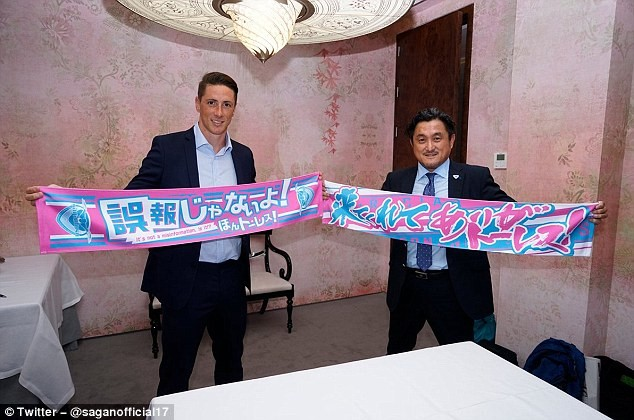 Fernando Torres signs deal with a Japanese club Sagan Tosu