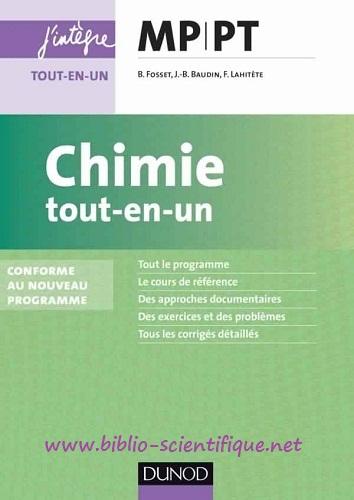 Livre : Chimie tout-en-un - MP-PT, Conforme au nouveau programme