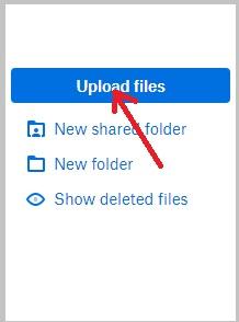 cara menyimpan file ke dropbox