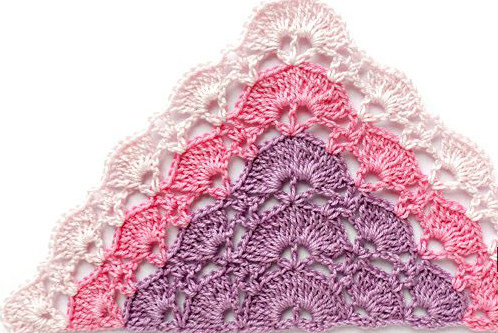 Crochet in shawl very easy to make shop line pattern