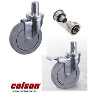Bánh xe đẩy cao su lắp trục trơn chịu tải trọng (120~146kg)