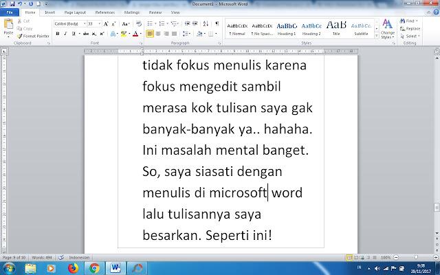 tips menulis menggunakan laptop