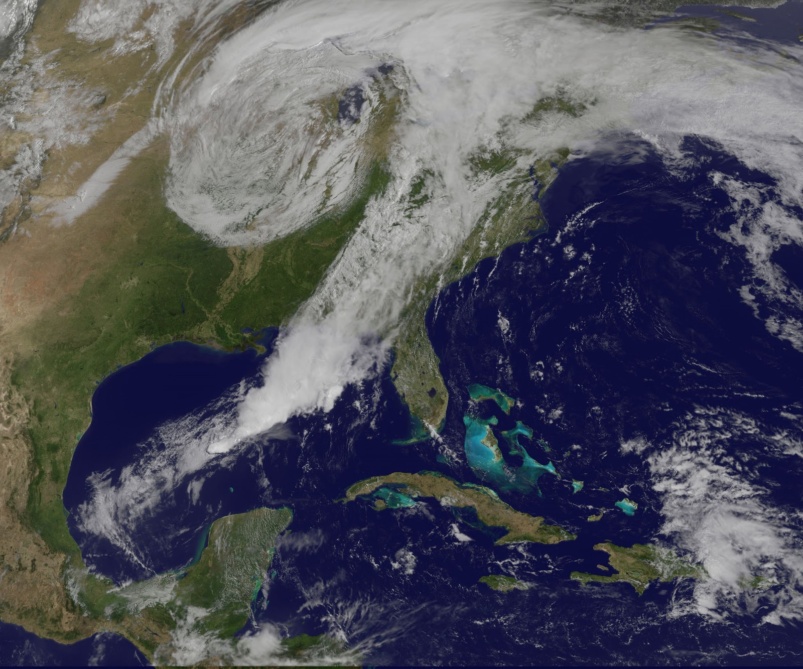 Storm System Over East Coast Of The United States Earth Blog