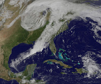 Storm System over East Coast of the United States
