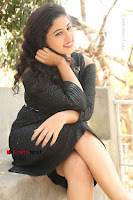 Telugu Actress Pavani Latest Pos in Black Short Dress at Smile Pictures Production No 1 Movie Opening  0155.JPG