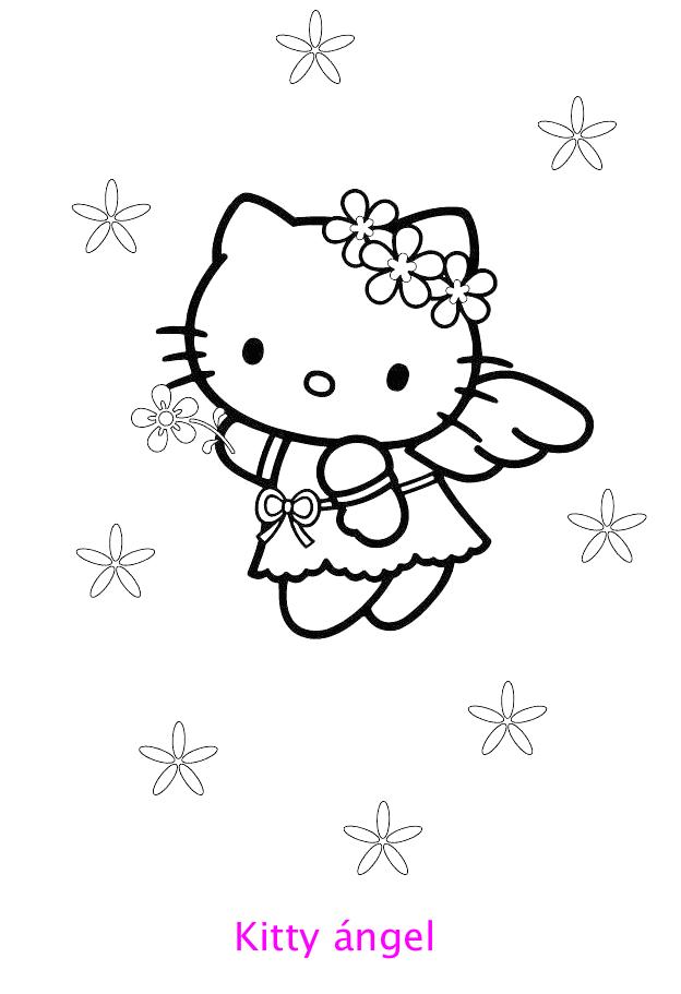 Hello Kitty ángel Para Colorear Locos Por Hello Kitty