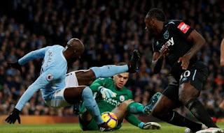 Manchester City Atasi Perlawanan West Ham United 2-1