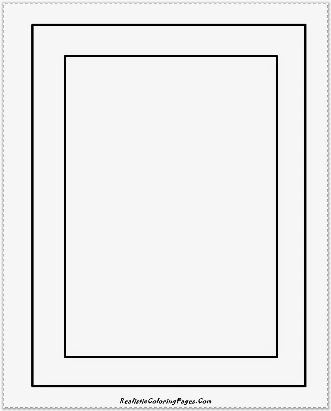 simple frame coloring pages