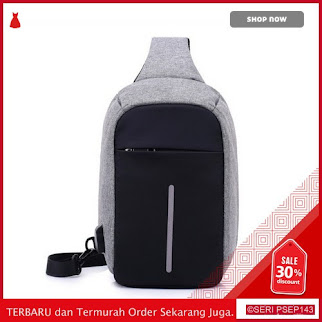 NDY581 Tas Anti Air Waterproof Sling Bag Pria Port USB | BMGShop