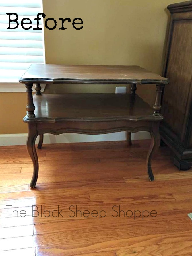 Mersman two tiered end table.