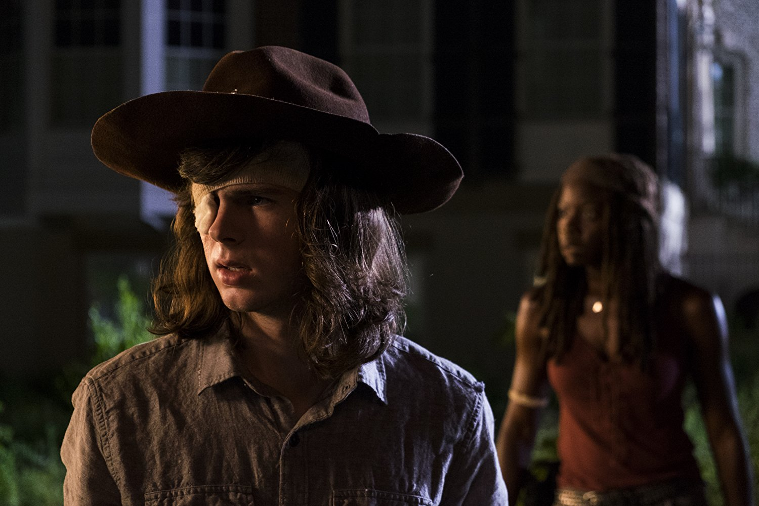 Carl y Michonne en el episodio 8x08 de The Walking Dead