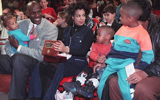 Michael Jordan With His Ex Wife And Kids
