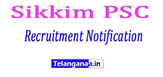SPSC (Sikkim Public Service Commission) Recruitment Notification 2017
