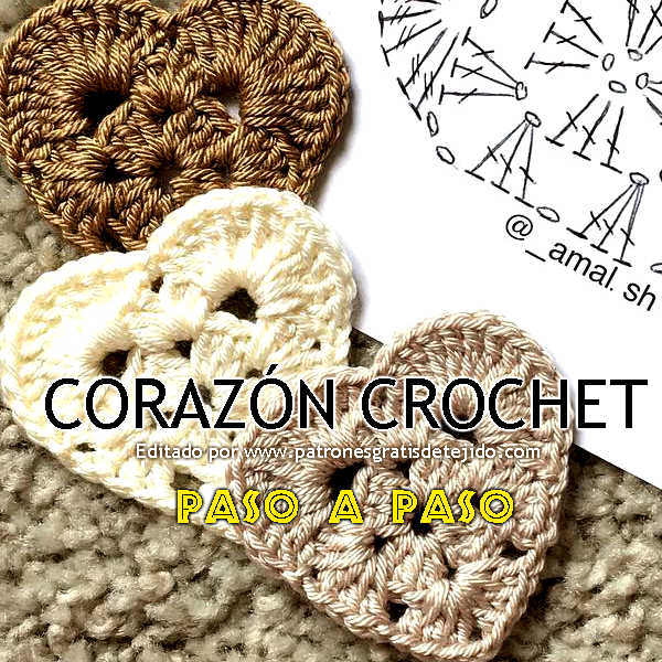 Cómo tejer corazón al crochet muy fácil / Paso a paso | Crochet y ...