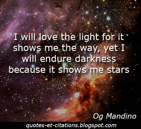 citation lumière et ténèbres