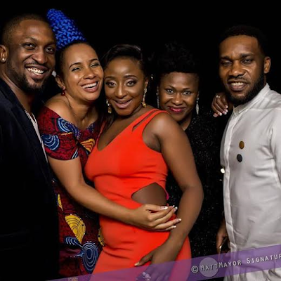 darey fiberisima ini edo and jay jay okocha at AMVCA 2016 after party