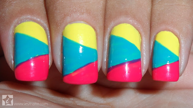 Unhas Decoradas - Color Block