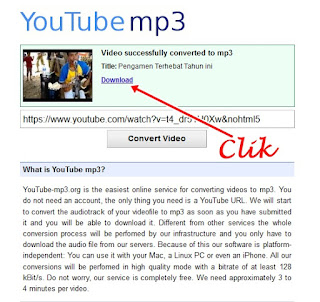Download Youtube menjadi Mp3