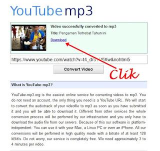 Download Youtube menjadi Mp3