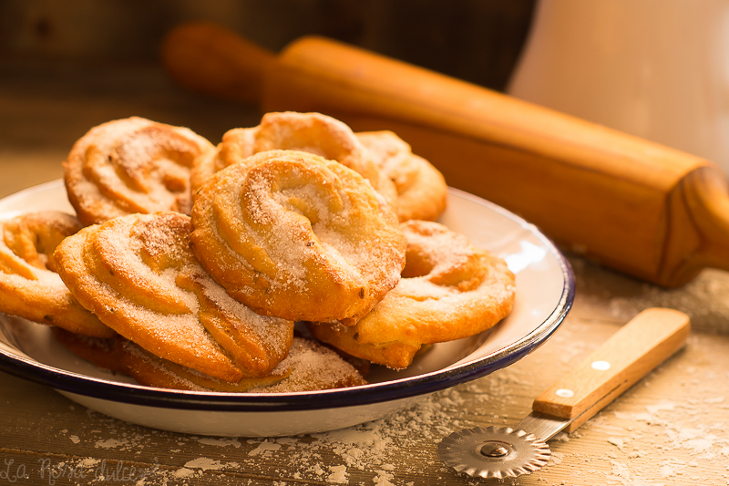 Orelletes | receta tradicional de Ibiza sin lácteos | la Rosa dulce