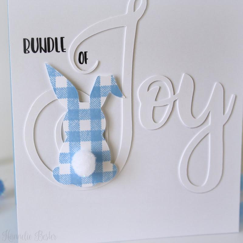 Bundle of joy - clean & simple - Baby card