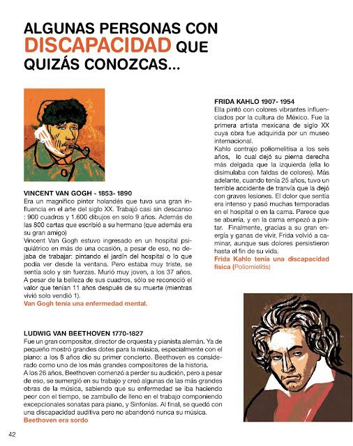 Biografía y retrato de Van Gogh, Beethoven, Frida Kahlo
