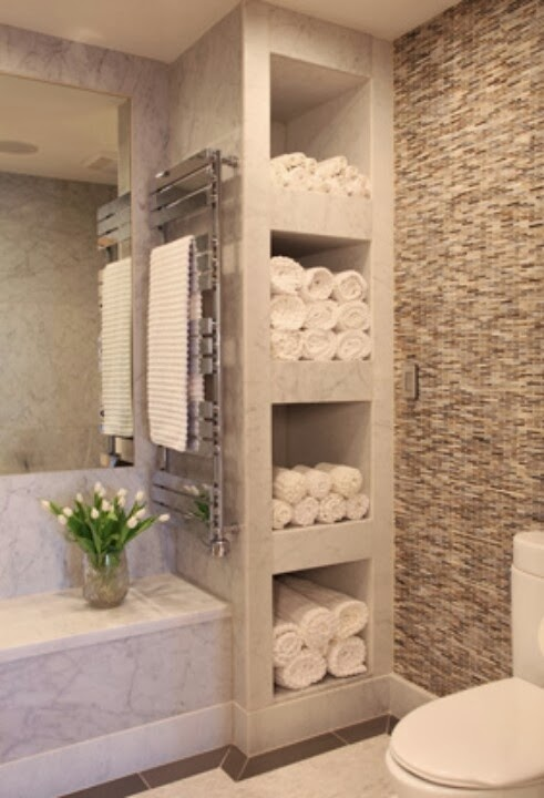 organizing and storing bathroom towels 3 ways and 18. Black Bedroom Furniture Sets. Home Design Ideas