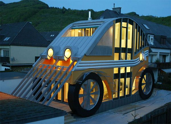 Compact House With Car Shape Interior And Home Design Ideas
