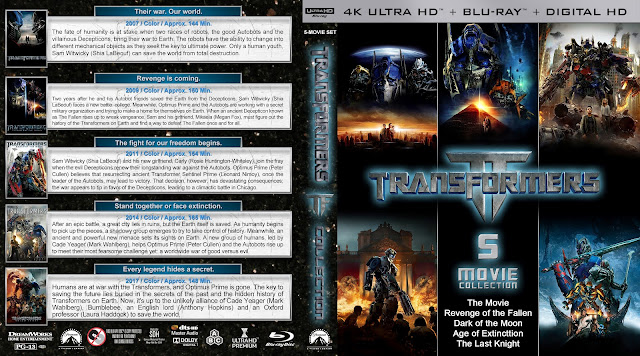 Transformers Collection 4K Bluray Cover