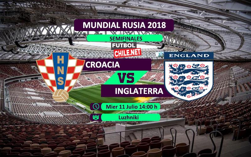 Croacia vs Inglaterra en vivo y online por las semifinales del Mundial Rusia 2018