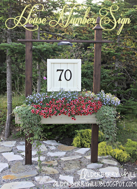 House Number Sign Planter
